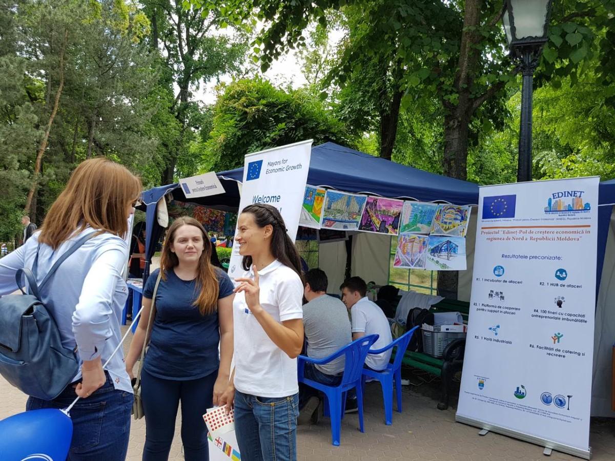 """Proiectul """"Edineț – Pol de creștere economică a regiunii de nord a Republicii Moldova"""" în Orăşelul European"""