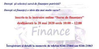 "Instruire online ""Surse de finanţare"""